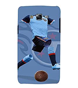 printtech Football Player Jersey Back Case Cover for Samsung Galaxy Quattro i8552 / Samsung Galaxy Quattro Win i8552