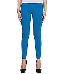 Liana Women's Cotton Legging(RFLA01_Blue_FreeSize)