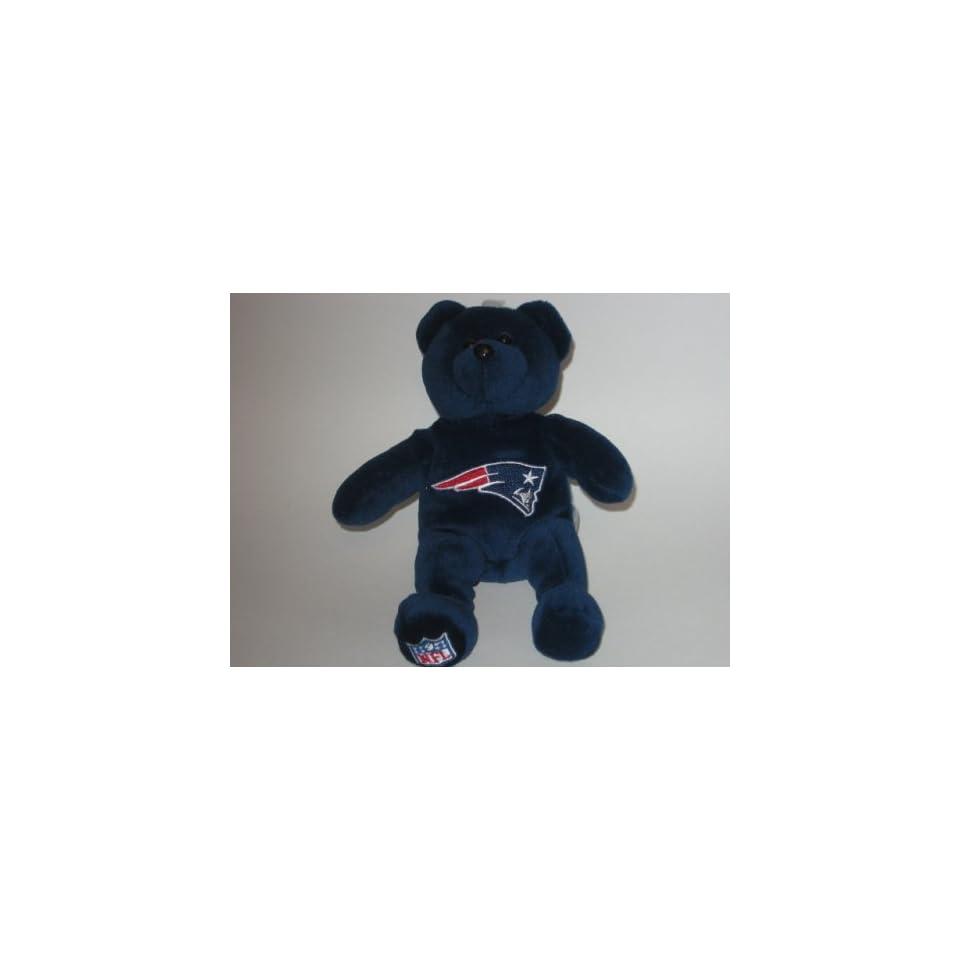 NEW ENGLAND PATRIOTS Team Logo Plush 8 TEDDY BEAR / BEANIE BABY