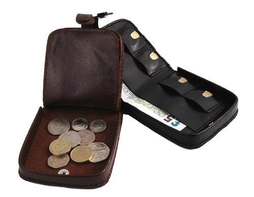 Deluxe Leather Change Tray Coin Purse