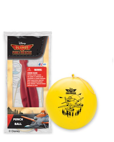 Pioneer National Latex Disney Planes Fire and Rescue 6 Punch Balls, Assorted