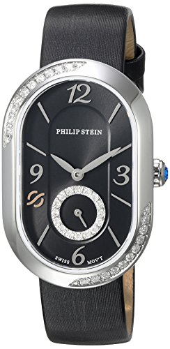 Philip-Stein-Womens-Modern-Swiss-Quartz-Stainless-Steel-and-Leather-Dress-Watch-ColorBlack-Model-74SD-FDB-IB