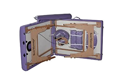 "BestMassage 30"" Purple Portable Massage Table Package(Includes FREE Carrying Case, Bolster, Adjustable Head Rest)"