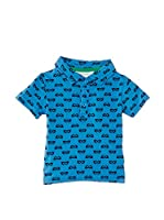 Pumpkin Patch Polo Print Polo Shirt (Azul)