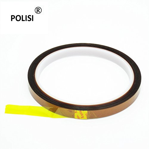 Polisi 3Pcs/Set 6Mmx33M Thickness 0.06Mm Kapton Tape Goldfinger Tape Polyimide Heat Resistant/High Temperature Adhesive Tape