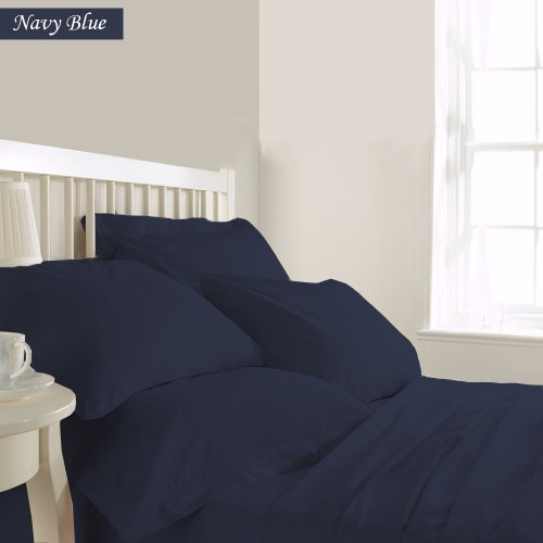 Srplinen Egyptian Cotton 800Tc 3-Piece Duvet Cover Set (King Navyblue) front-1044431