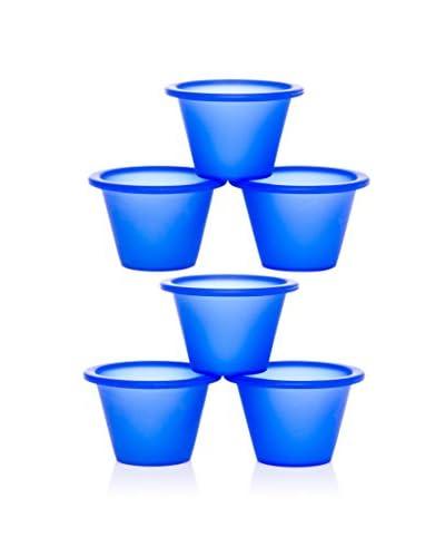 Lekue Pack De 6. Flanera Individual Classic Azul