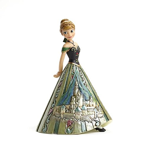 Disney Traditions Frozen Anna Castle Dress Collectible Figurine