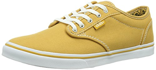 Vans Women's Atwood Low Canvas Skate Shoes, Cheetah/Golden/White (VN-0U4IDG9) vik max factory outlet white figure skate shoes two size left ice skate shoes cheap figure skate shoes
