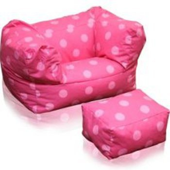 Remarkable Junior Arm Chair Ottoman In Oxygen Pink Finish By American Short Links Chair Design For Home Short Linksinfo