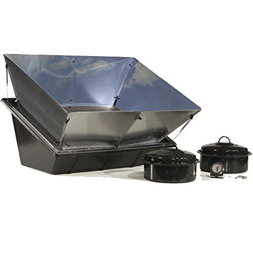 Solavore Sport Solar Oven - Portable Solar Cooking Package Complete with All Season Solar Reflectors, 2 Granite Ware Pots, Oven Thermometer, and Water Pasteurization Tool