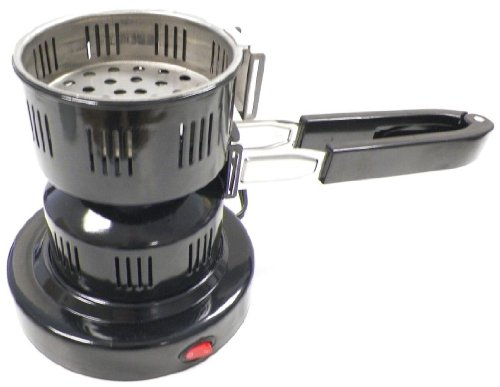 Pharaoh's Electric Hookah Charcoal Starter/Burner Removable Tray + Detachable Tongs (Hookah Coal Stove compare prices)