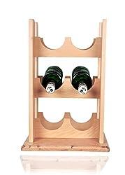 loxiaa wooden Beige wine-rack (6 bottles)