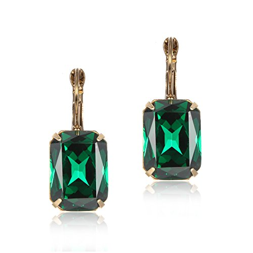 simple-leverback-drop-dangle-earrings-clip-on-emerald-green-crystal-for-ladies-women-gemstone-jewell