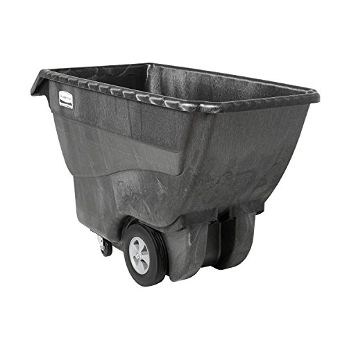 Rubbermaid Commercial FG101300BLA HDPE Box Cart with Steering Wheel, 1000-Pound Capacity, Black