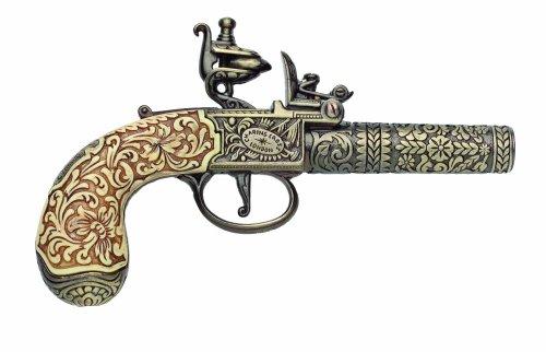 Denix Colonial Replica 18th Century Ornate Non Firing Gun Flintlock Pistol