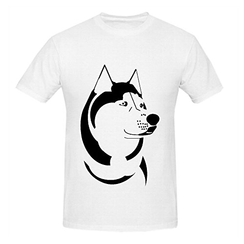 siberian-husky-cute-dog-men-o-neck-slim-fit-tee-shirts-white
