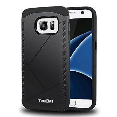 S7 Case, Galaxy S7 Case - YOKIRIN 2 in 1 Design [Heavy Duty] Hard Plastic TPU Protective Case Bumper for Samsung Galaxy S7 from YOKIRIN