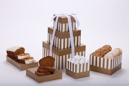Delicious Tower of All-Natural Gourmet Breads and Cookies
