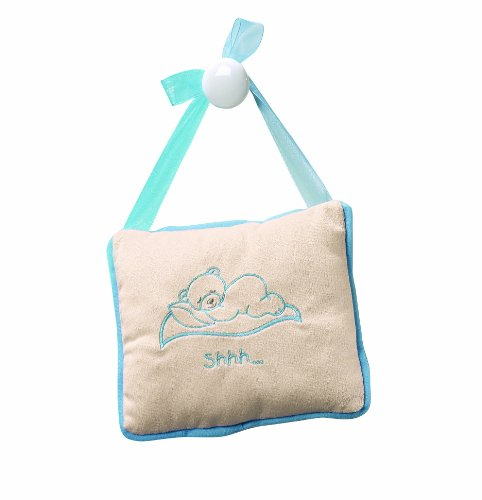 Baby Sleeping Blue Door Hanger Pillow
