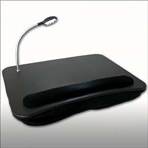 Support ordinateur portable avec lampe et coussin - Support ordinateur portable coussin ...