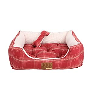 PUPPIA Authentic Cyberspace Dog Bed, Size 1, Wine