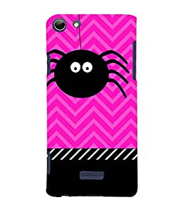 Spider Clipart 3D Hard Polycarbonate Designer Back Case Cover for Micromax Canvas Selfie 3 Q348