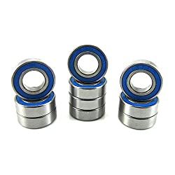 8x16x5mm Precision Ball Bearings ABEC 3 Rubber Seals 10 688-2RS-BU