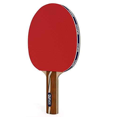 Duplex   6 Star Ping Pong Paddle - Best Professional Table Tennis Racket with High Performance Rubber - Wooden Blade with Long Handle (Table Tennis Blade Carbon compare prices)