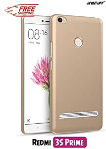 Unistuff™ Matte Hard Shell Frosted Ultra Thin Bumper Back Case Cover for Xiaomi Redmi 3S Prime (Golden)