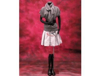 PS-p907f+bs-05bk ROXY DISPLAY Plastic Female Torso Body Form w//Black Base