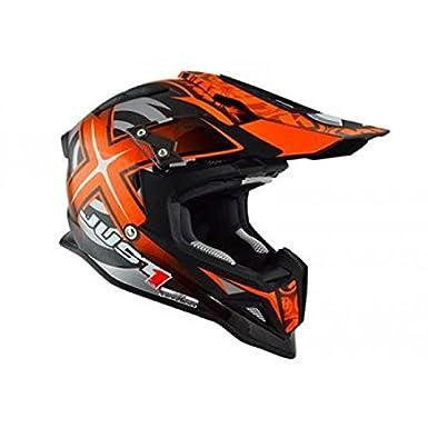 JU001155 - Casque Just1 J12 Mister X Carbone Orange/Carbone L