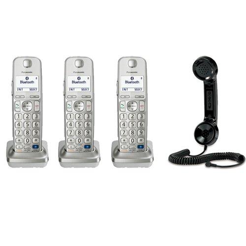 Panasonic Kx-Tgea20S Dect 6.0 1 Digital Cordless Handset (3) + Vtech Ls916 Retro Handset For Cell Phones