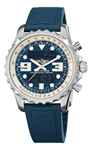 Breitling Men's A7836534/C823 R Professional Chronospace Blue Digital and Analog Display Dial Watch