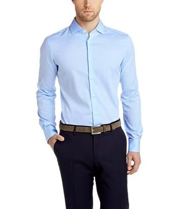 ESPRIT Collection Herren Slim Fit Businesshemd 044EO2F005, Gr. Kragenweite: 43 cm (Herstellergröße: 43-44), Blau (BUSINESS BLUE 437)