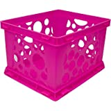 Large Storage Crate (Set of 6) Color: Neon Pink