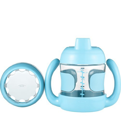 Oxo Tot Sippy Cup With Bonus Training Lid Set, Aqua, 7 Ounce Color: Aqua Newborn, Kid, Child, Childern, Infant, Baby front-524348