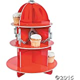 Fire Hydrant Cupcake Holder Stand (RED, 1) (1, 1 LB)