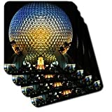 Florida, Orlando. Epcot Center at Walt Disney World - US10 BBA0072 - Bill Bachmann - Set Of 4 Ceramic Tile Coasters