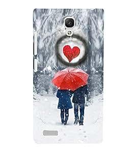 PrintVisa Romantic Love Couple Hearts 3D Hard Polycarbonate Designer Back Case Cover for Xiaomi Redmi Note Prime