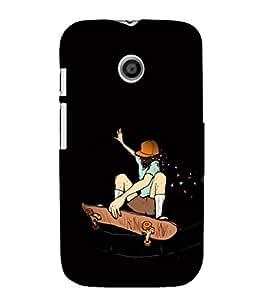 EPICCASE Enthusiast Skater Mobile Back Case Cover For Moto E (Designer Case)