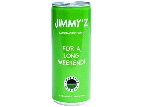 24 x JIMMY'Z matcha rinfresco con caffeina. Limone sapore. Bevanda energetica te matcha energy drink