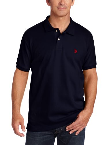 U.S. Polo Assn. Men'S Solid Cotton Interlock Polo With Small Pony, Classic Navy, Medium