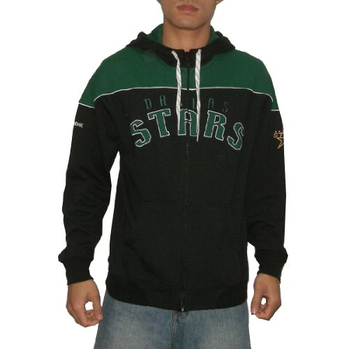 NHL Dallas Stars Mens Athletic Warm Zip-Up Hoodie / Sweatshirt Jacket with Embroidered Logo (Size: M)