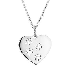 ASPCA(R) TenderVoices(R) Diamond Heart Paw Print Pendant