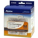 Aqueon 06085 Filter Cartridge, Medium, 6-Pack