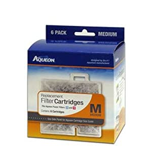 Aqueon 06085 Filter Cartridge, Medium, 6-Pack