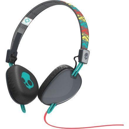 Skullcandy Navigator Santa Fe Gray/Red/Aqua Headphones