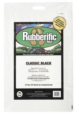 International Mulch #rm16bk-mw 16lb Black Rubberif Mulch