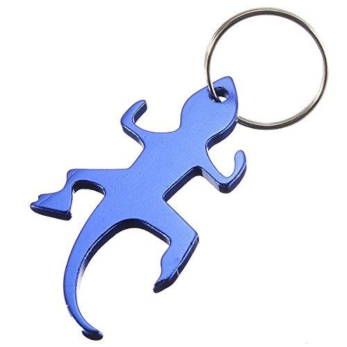 Novel Gecko Bottle Opener Keychain Key Ring Random Color (Gecko Bottle Opener compare prices)